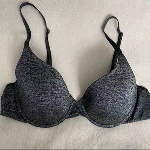 Victoria's Secret Uplift Semi Demi Bra 36B Gray